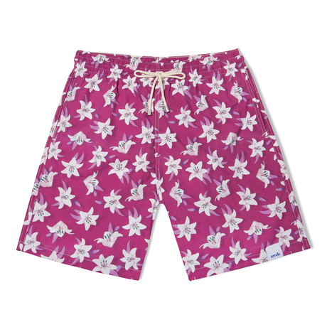 Lily Long Swim Shorts // Violet (Small)