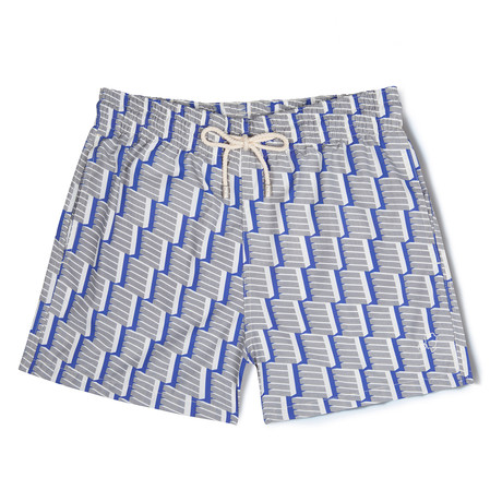 Geometric X Amelia Graham Classic Swim Shorts // Gray (Small)