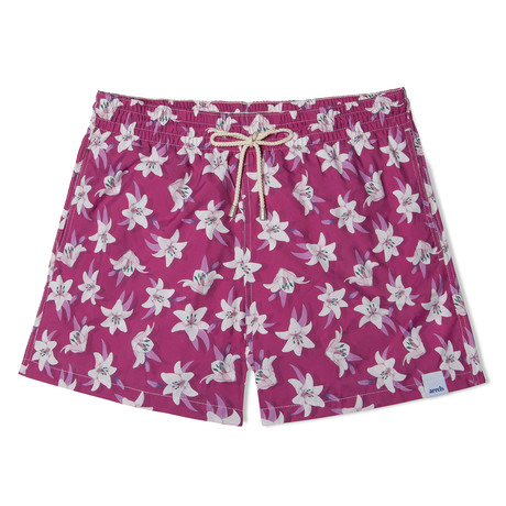 Lily Classic Swim Shorts // Violet (Small)