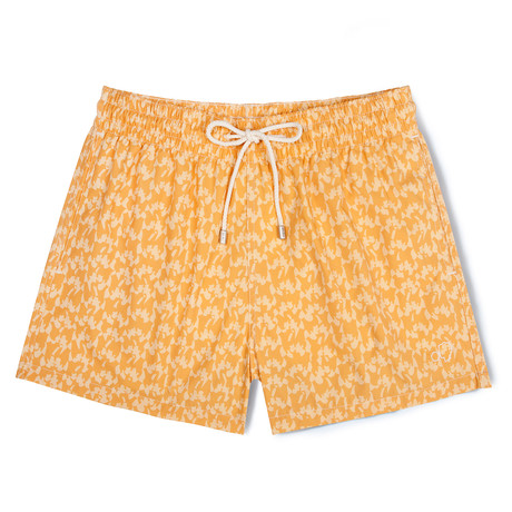 Mellow Love X Malika Favre Classic Swim Shorts // Orange (Small)