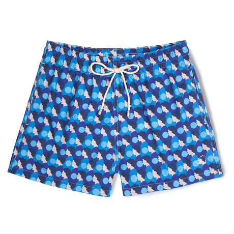 Bubblegum X Olimpia Zagnoli Classic Swim Shorts V1 // Blue (Small)