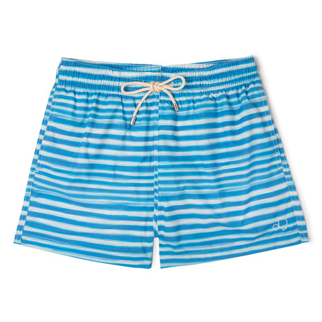 Stripes X Lagranja Classic Swim Shorts // Blue (Small)