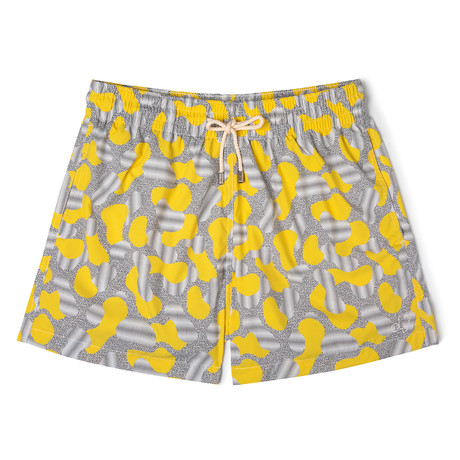 Dots X Mucho Classic Swim Shorts // Yellow + Black (Small)