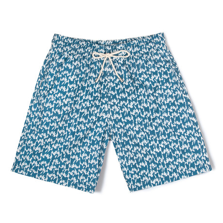 Love X Malika Favre Long Swim Shorts // Petrol (Small)