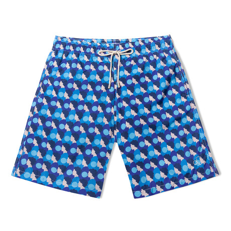 Bubblegum X Olimpia Zagnoli Long Swim Shorts // Blue (Small)