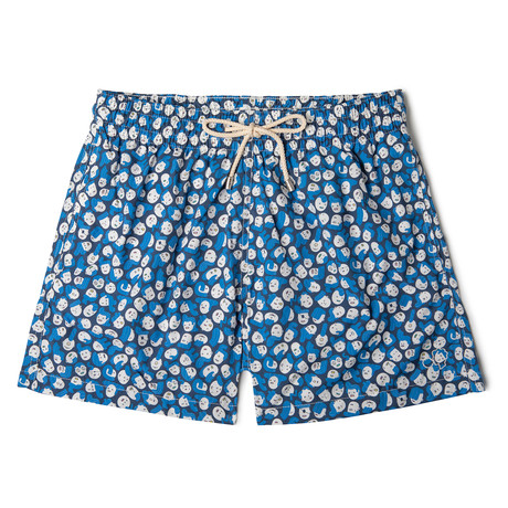 Faces X Brosmind Classic Swim Shorts // Blue (Small)