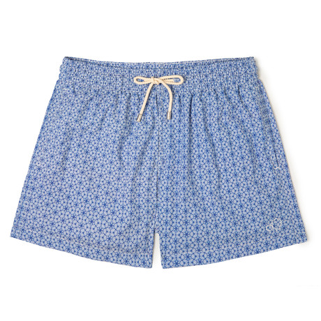 Trochutmetrics X Alex Trochut Classic Swim Shorts // Light Blue (Small)