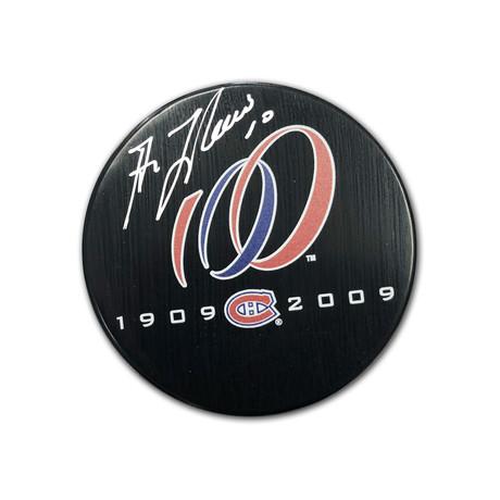 Guy Lafleur // Signed Canadiens Centennial Puck // Montreal 100 Seasons (1909 - 2009)