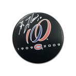 Guy Lafleur // Signed Canadiens Centennial Puck // Montreal 100 Seasons (1909 - 2009)