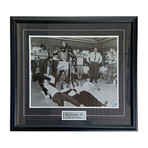 Muhammad Ali //  Framed Autographed Ali + The Beatles Photo
