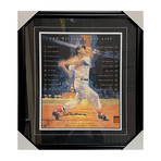 Ted Williams // Framed Autographed Hit List Photo