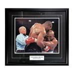 Mike Tyson // Framed Autographed Tyson vs. Holyfield Photo
