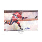 Guy Lafleur // Montreal Canadiens // Autographed Limited Edition Lithograph