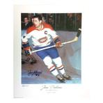 Jean Beliveau // Montreal Canadiens // Autographed Limited Edition Lithograph