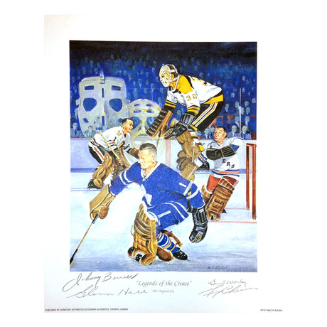 Legends Of The Crease Lithograph // 4 Autographs