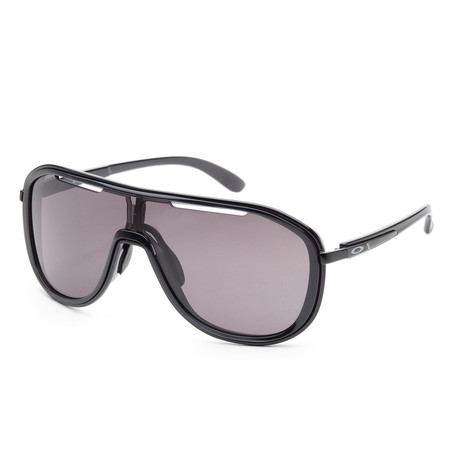 Women's Outpace OO4133-01 26mm Sunglasses // Polished Black + Warm Gray
