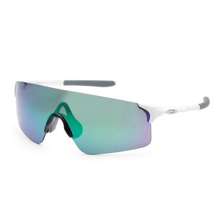 Men's EVZero Blades OO9454-04 38mm Sunglasses // Matte White + Prizm Jade