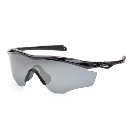 Men's M2 OO9343-09 45mm Sunglasses // Polished Black + Black Iridium