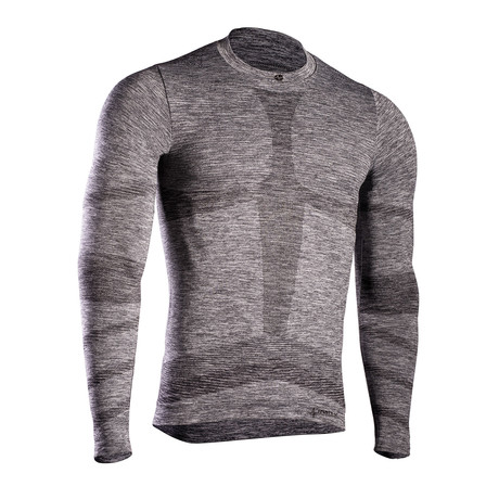 Iron-Ic // Long Sleeve T-Shirt // Gray (S/M)