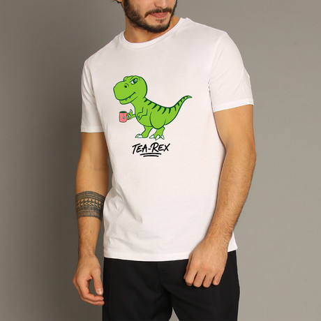Tea Rex T-Shirt // White (S)