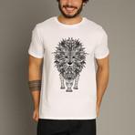 Graphic Lion T-Shirt // White (S)