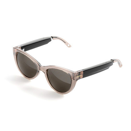 Women's Fabula Sunglasses + Built-In Speakers // Crystal Brown + Brown