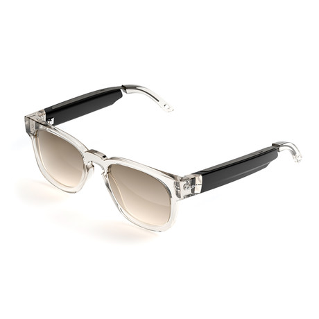 Unisex Spiro Sunglasses + Built-In Speakers // Transparent Brown + Brown