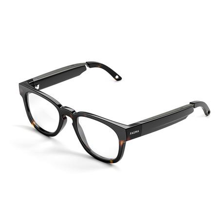 Unisex Memor Blue Light Blocking Glasses + Built-In Speakers // Havana Brown