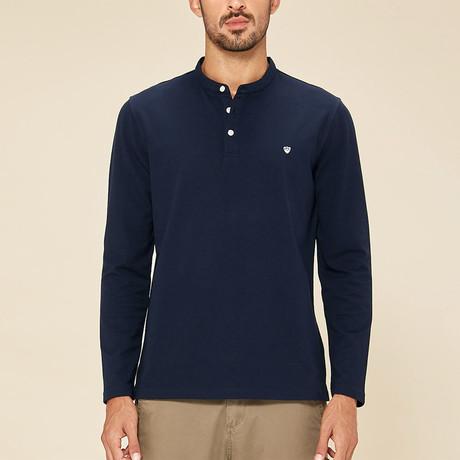 Addison Polo Shirt // Navy (Medium)