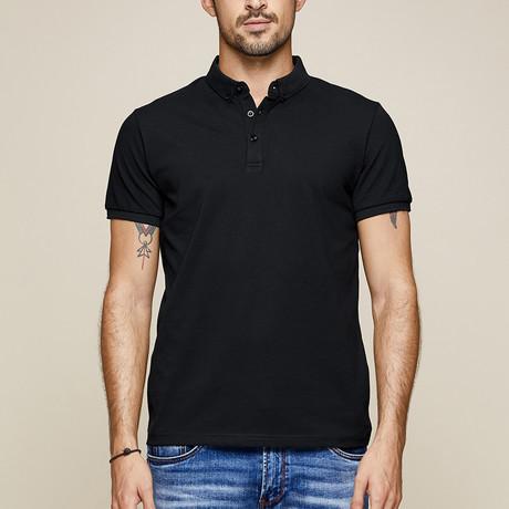 Leland Polo Shirt // Black (Small)