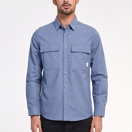 Callum Shirt // Blue (Medium)