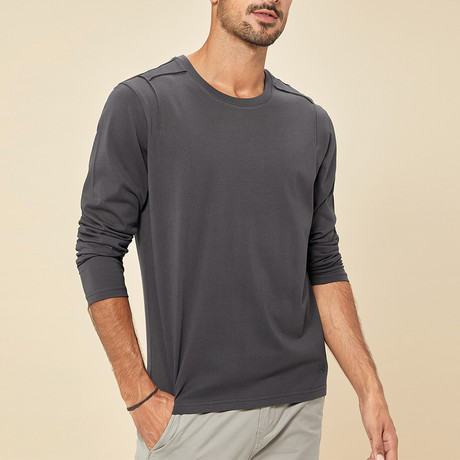 Orlando Long Sleeve Tee // Charcoal (Medium)