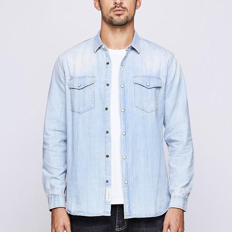 Greyson Shirt // Blue (Medium)