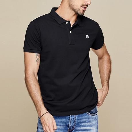 Lincoln Polo Shirt // Black (Medium)