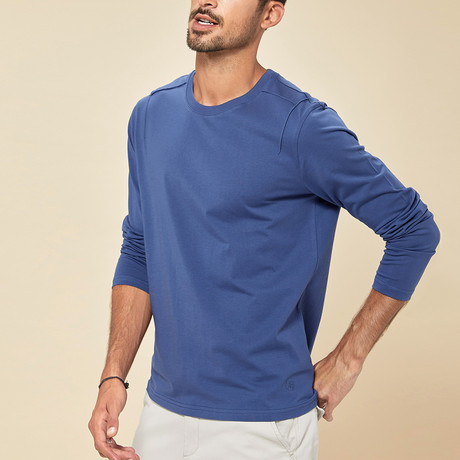 Orlando Long Sleeve Tee // Blue (Medium)