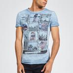 Miami Beach Memories T-Shirt // Ombre Blue (Small)