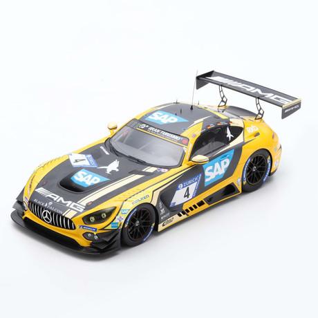 1/18 Mercedes-AMG GT3 - #4 24H Nürburgring 2018 - 2nd Mercedes-AMG Team Black Falcon M. Engel - A. Christodoulou - M. Metzger - D. Müller Limited 300