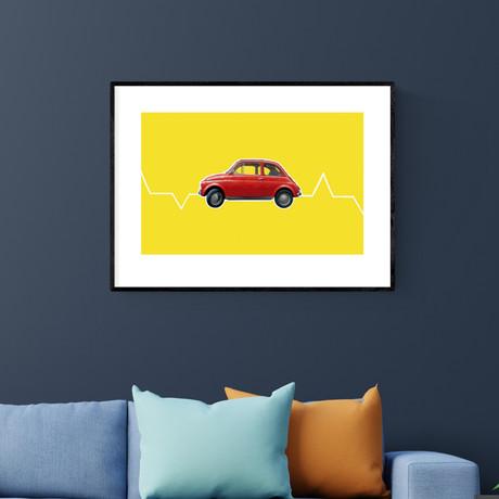 """Fiat 500 (20""""W x 14""""H)"""