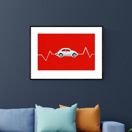"""Volkswagen Beetle (20""""W x 14""""H)"""