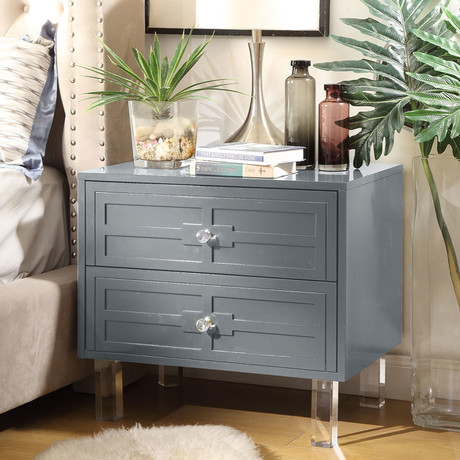Maya Side Table / Accent Table / Nightstand (Dark Gray)