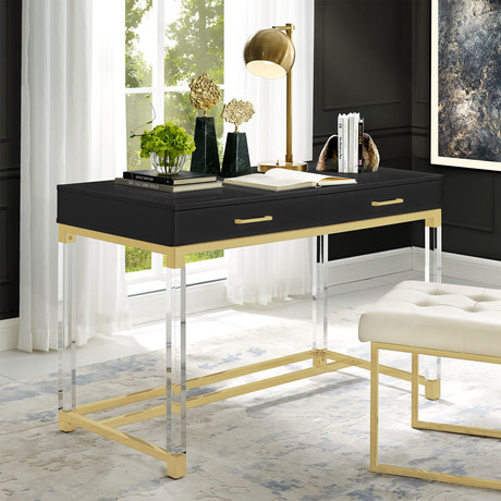 Jerome Writing Desk (Black/Gold)
