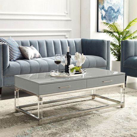 Jerome Coffee Table (White/Gold)