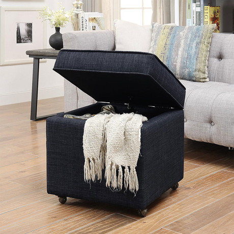 Martina Linen Storage Cube (Black)