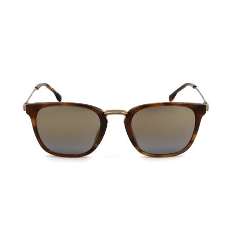 Men's SL4163M-6YHG Sunglasses // Brown + Gold