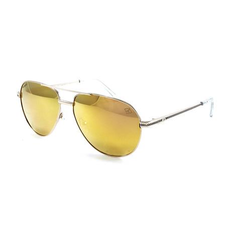 Men's BillingsgatePM Polarized Sunglasses // Gold + Gold Mirror