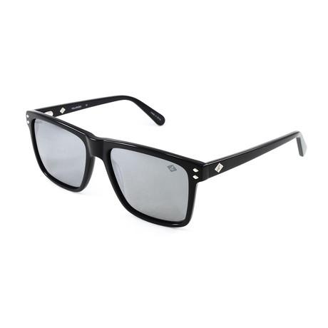 Men's Highland Polarized Sunglasses // Black + Gray Mirror