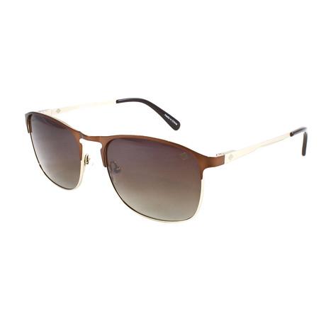 Men's Whitecap Polarized Sunglasses // Matte Brown + Gold