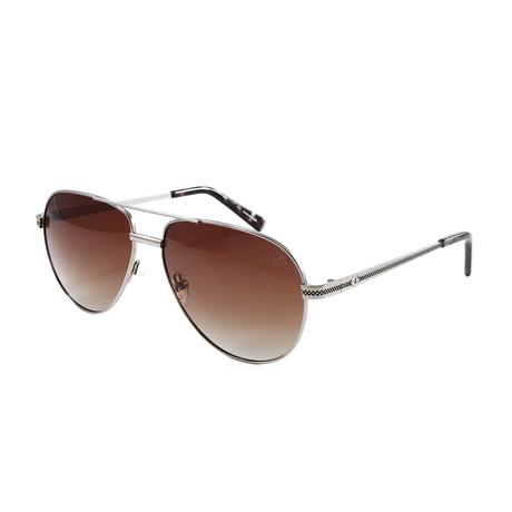 Men's BillingsgatePM Polarized Sunglasses // Gunmetal + Brown Gradient