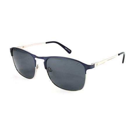Men's Whitecap Polarized Sunglasses // Matte Navy + Silver