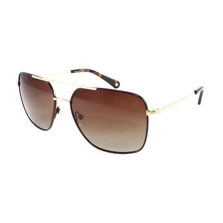 Men's Silver Strand Polarized Sunglasses // Brown + Gold